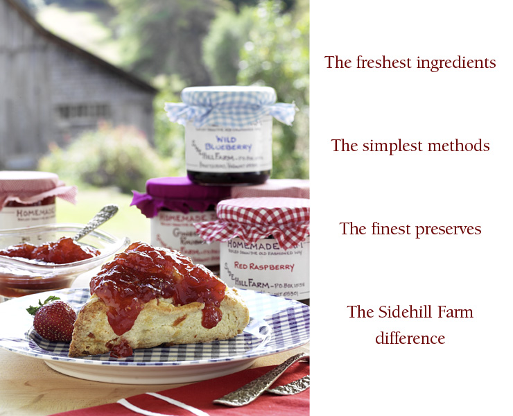 Sidehill Farm Homemade Vermont Jam, Jelly and Preserves