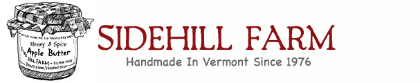Sidehill Farm, Vermont.  Homemade Jam, homemade jelly and vermont gift baskets.